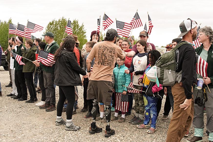 It was truly a hero's welcome at Samaritan Lodge Alaska in Lake Clark National Park.
