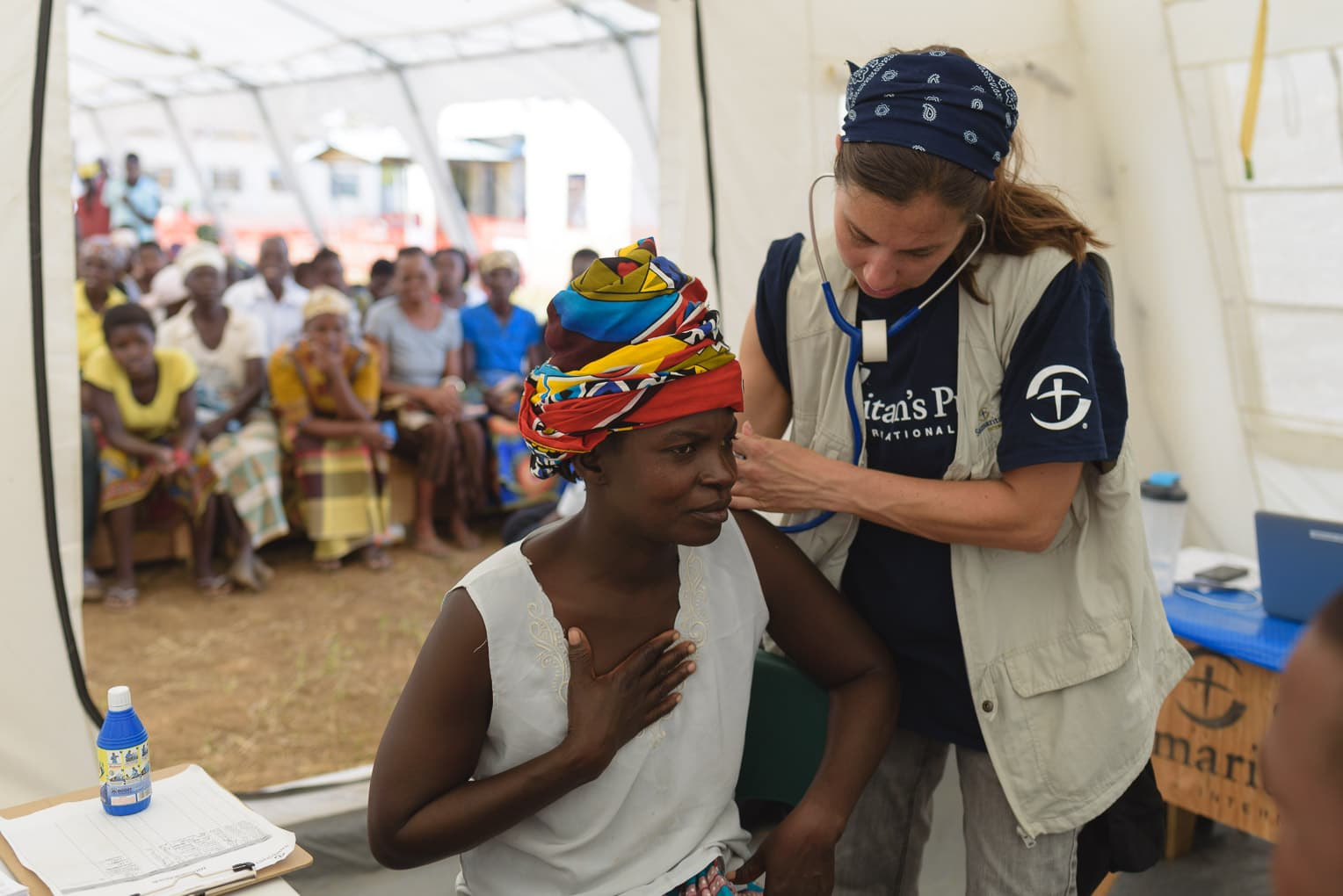 Cyclone Idai victim treated in Samaritan's Purse Emergency Field Hospital.