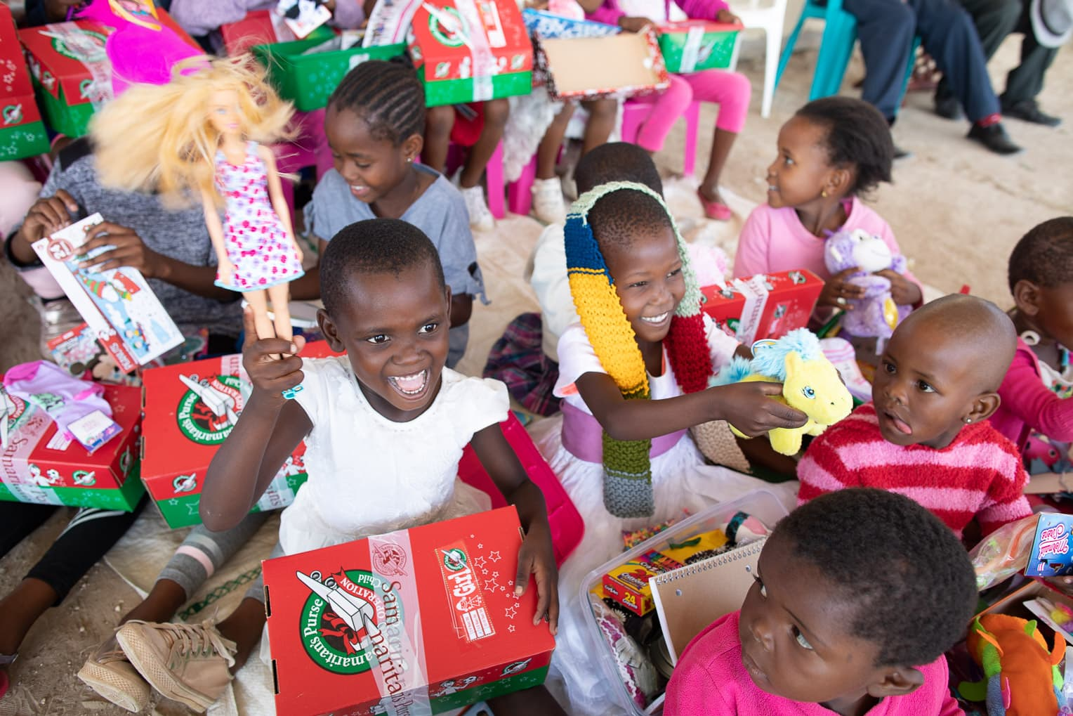 Children in rural communities in Botswana are sharing what they have learned about God and the Bible through Operation Christmas Child and The Greatest Journey.