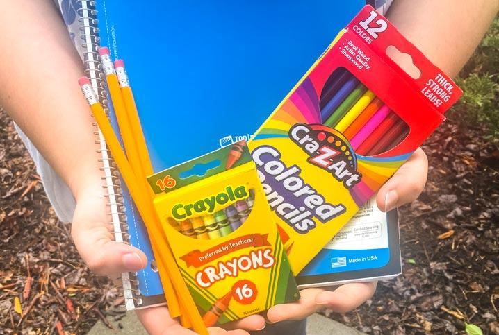 Tania's school supplies