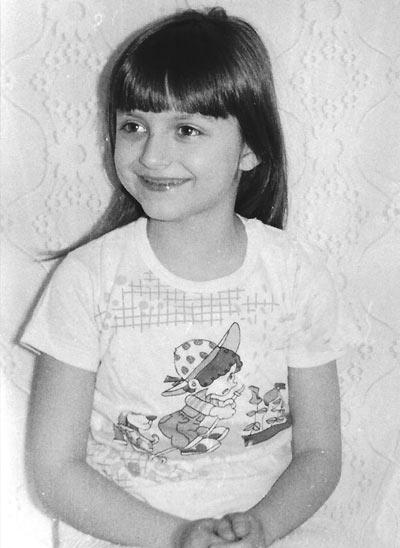 Dana as a youth