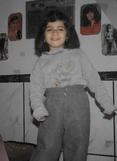 Dania as a child