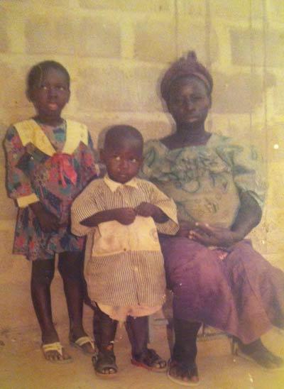 Désiré's only photo as an infant