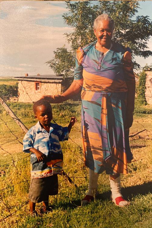 Karabo with Grandmother