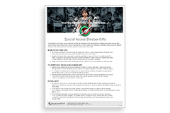 Special Access Shoebox Gift Background Information